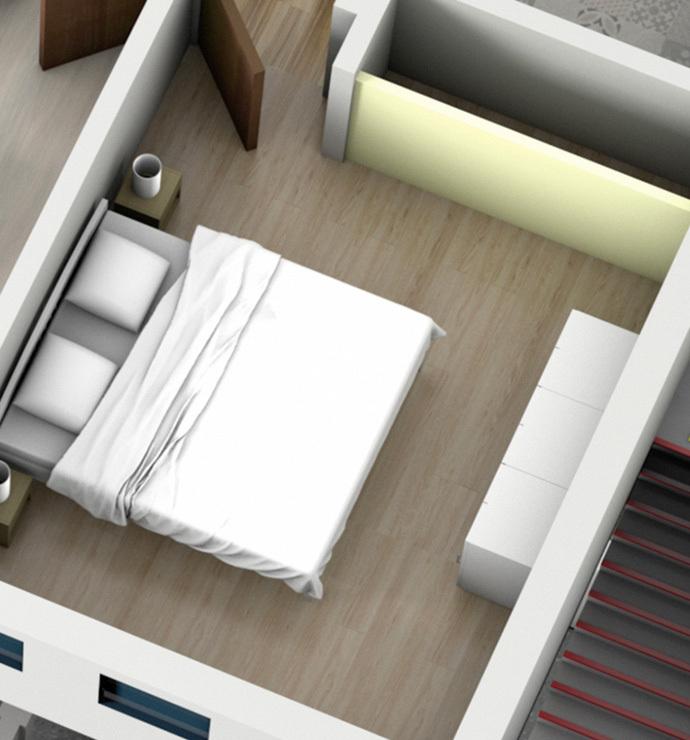 Отдельные комнаты: спальня