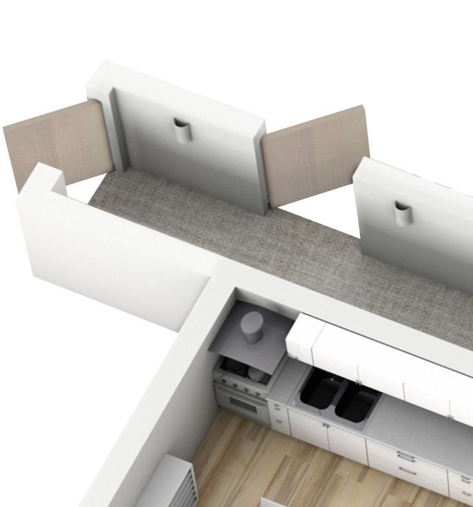 Зоны общего пользования: коридоры и лестничные площадки