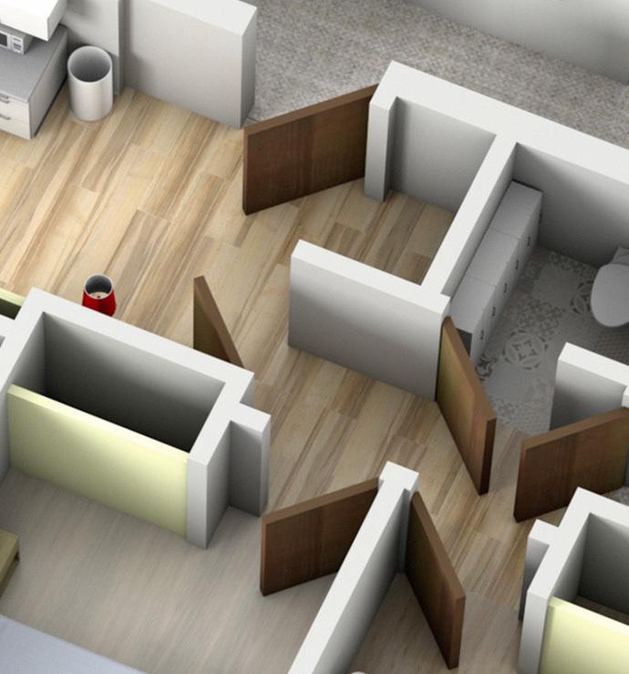 Отдельные комнаты: приемная, коридоры