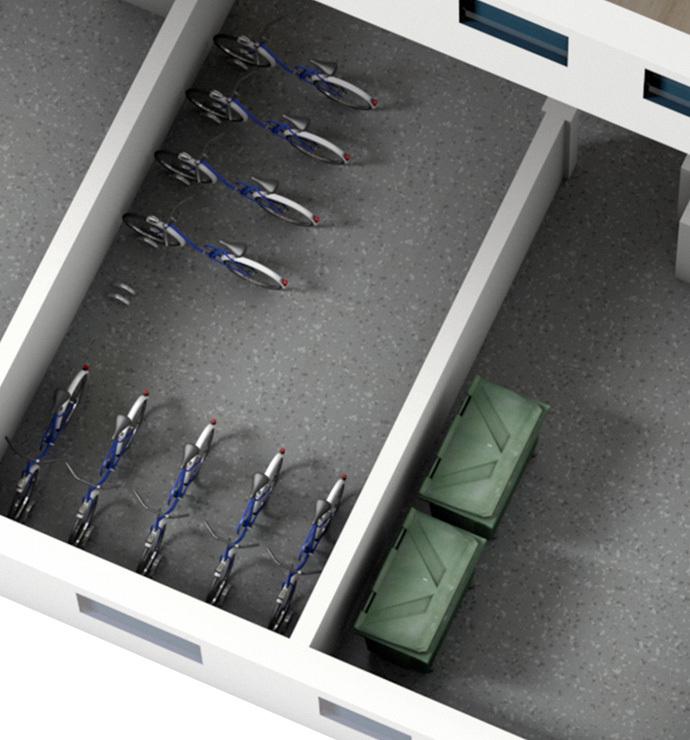 Зоны общего пользования: складские помещения