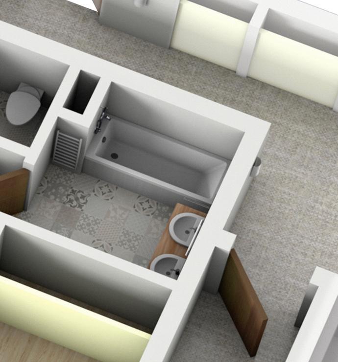 Отдельные комнаты: туалеты, ванная
