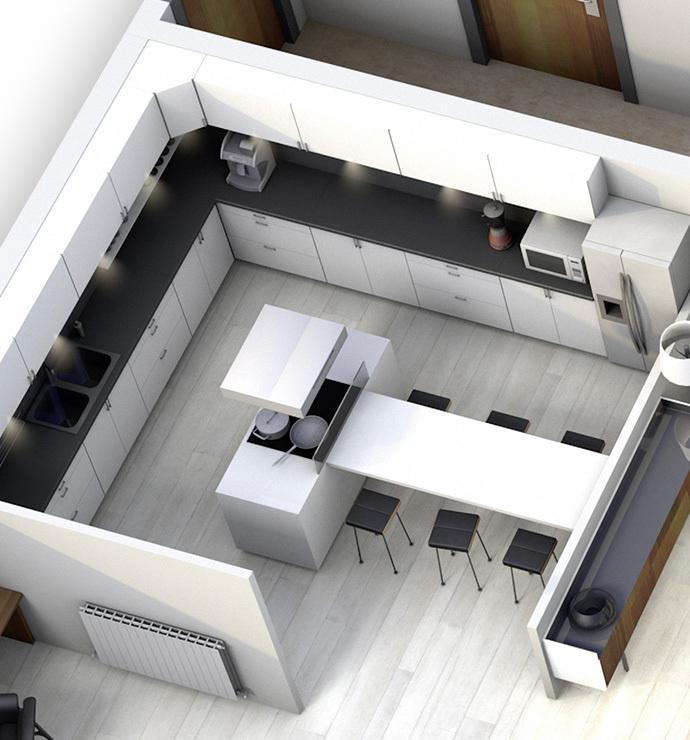 Отдельные комнаты: кухня / кладовка