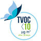 TVOC after 28 days < 10 µg/m3